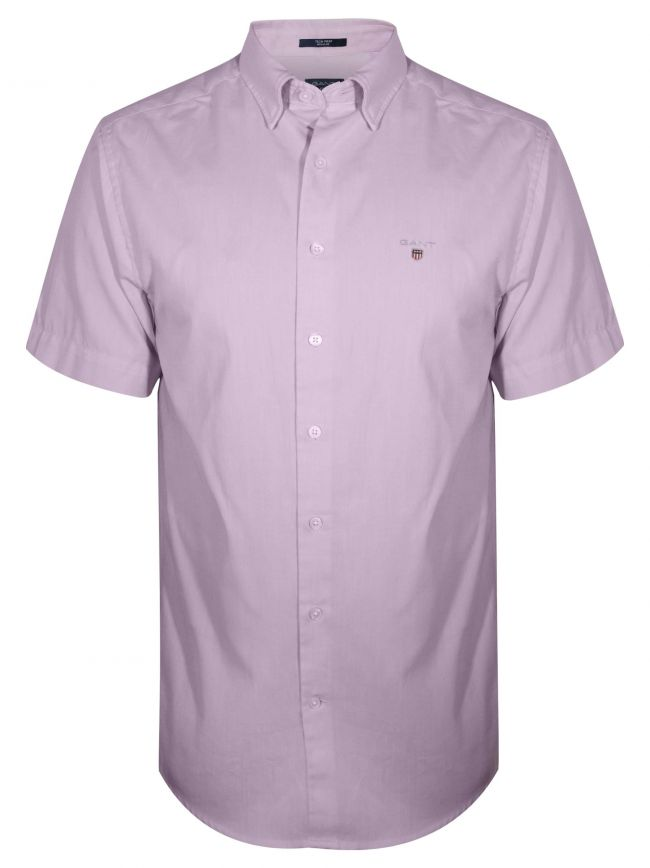 Pink Oxford Regular Short-Sleeve Shirt