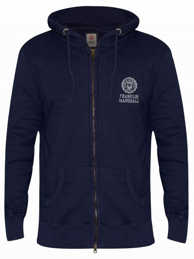 Navy Embroidered Stamp Logo Hoody