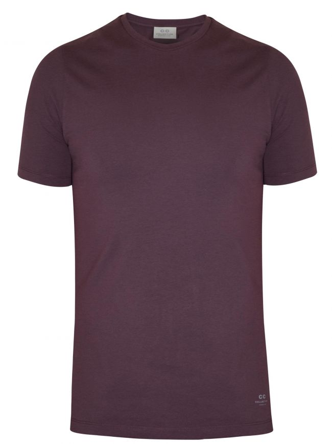 Burgundy Crew Neck T-Shirt