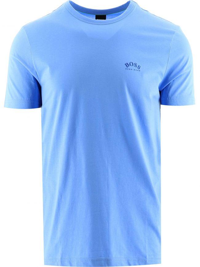 Light Blue Tee Curved T-Shirt