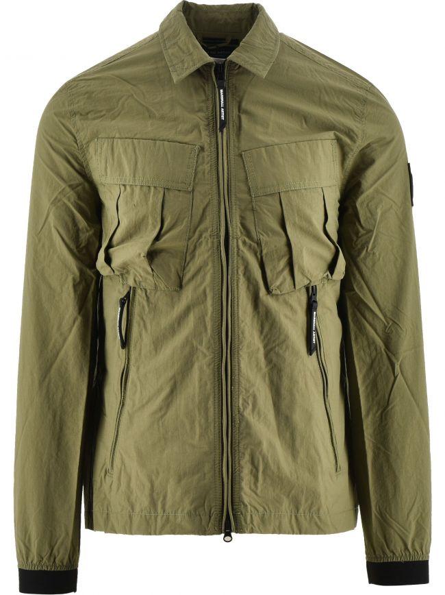 Green Cotton Polyamide 420 Overshirt