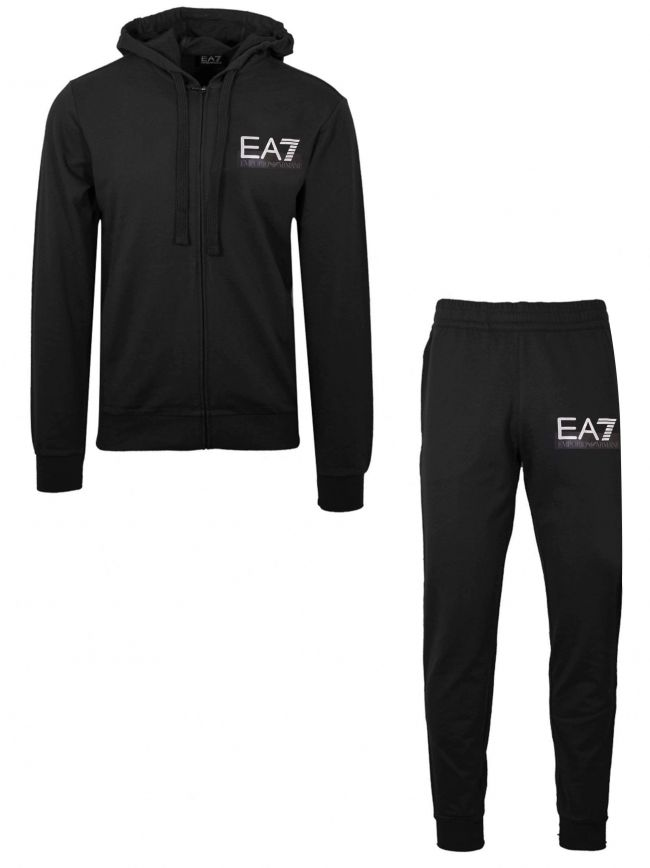 Black Visibility Hooded Tracksuit