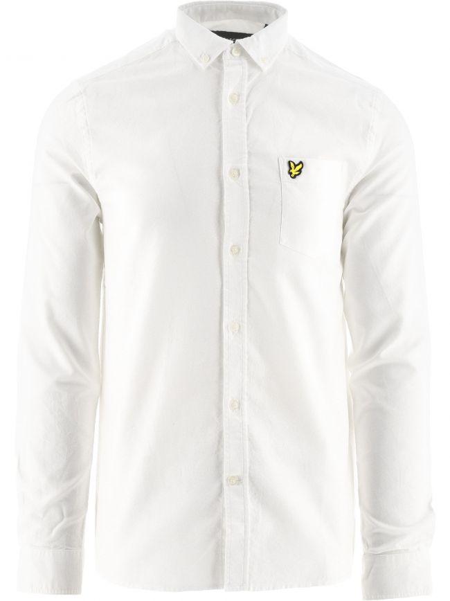 White Regular Fit Lightweight Oxford Shirt