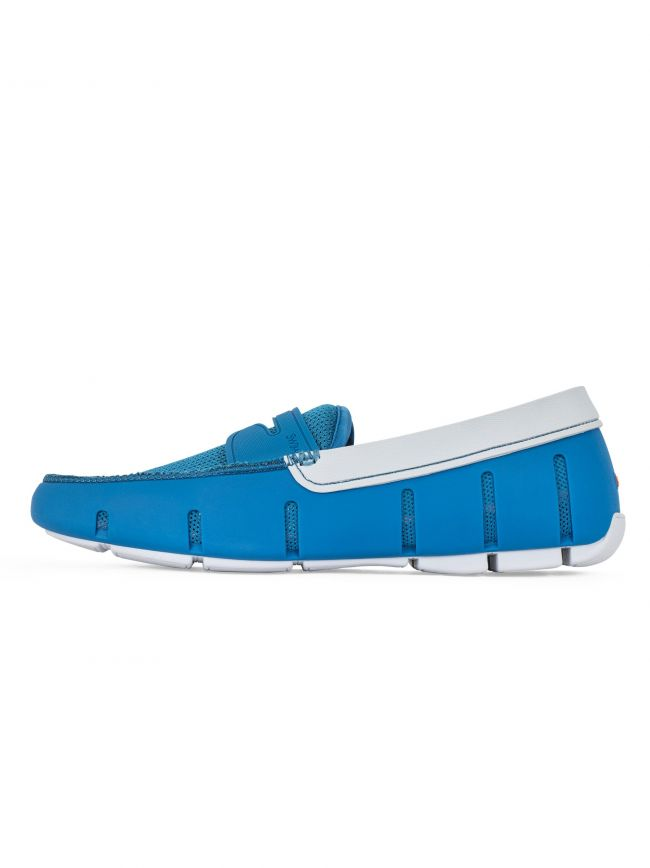 Seaport Blue & Alloy Penny Loafer