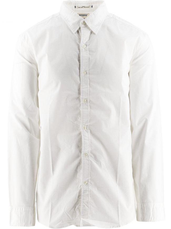 White Plain Slim Fit Shirt
