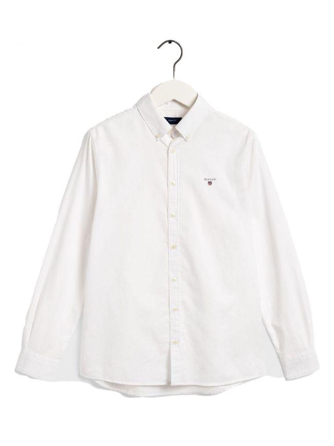 GANT Kids White Shield Logo Shirt