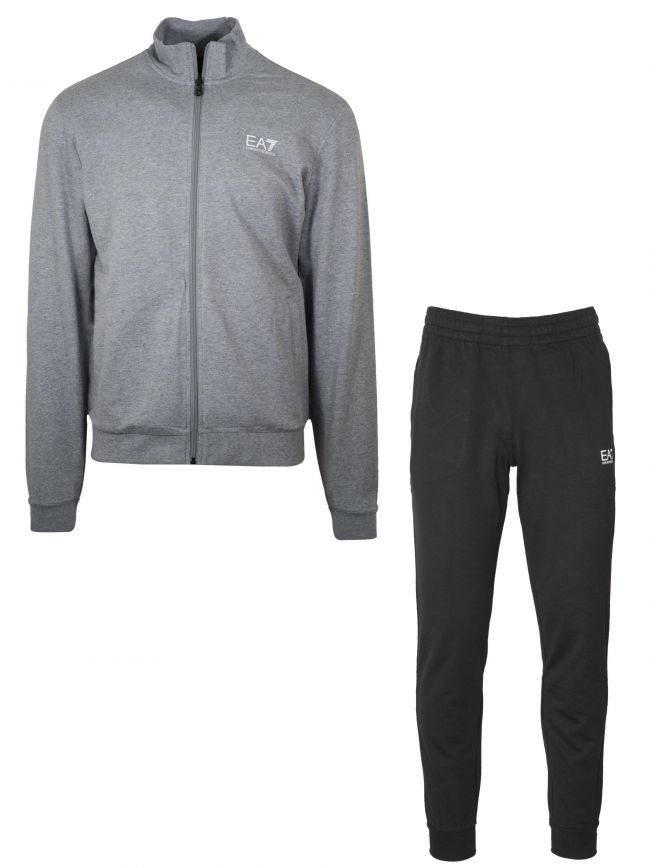 Grey & Black Jersey Tracksuit
