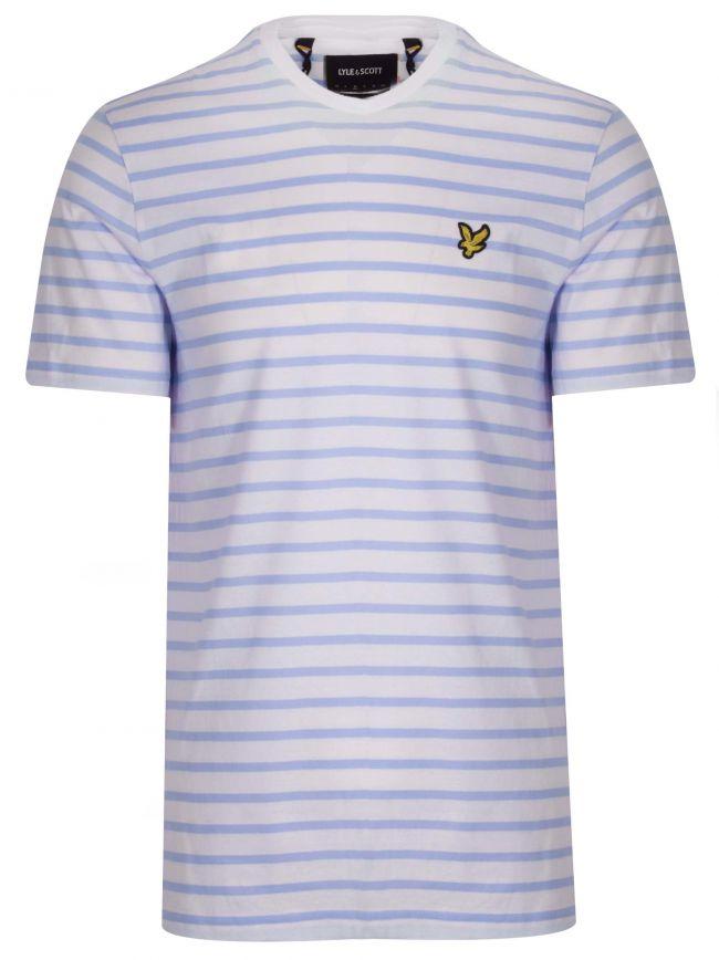 Blue & Cream Striped T-Shirt
