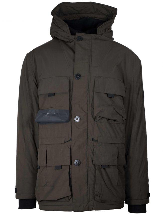 Khaki Resin Field Parka Jacket