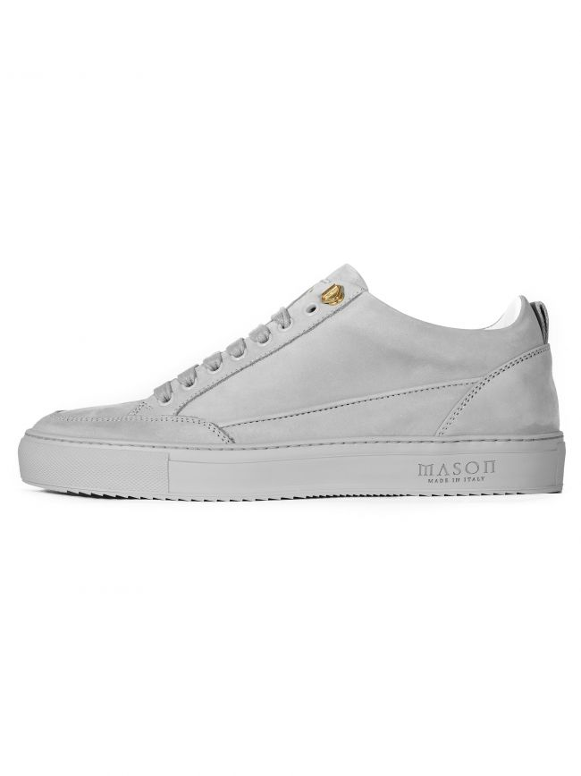 Light Grey Nubuck Tia Low Sneaker