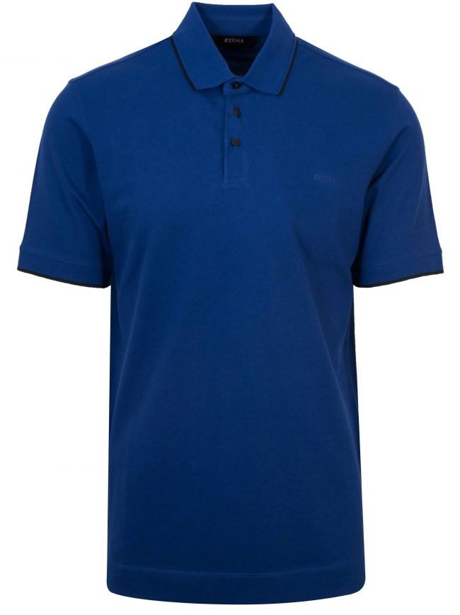 Royal Blue Short Sleeved Polo Shirt