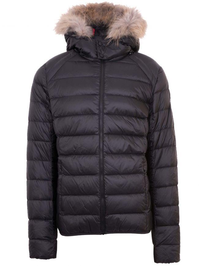 Black Prestige Fur Hood Jacket