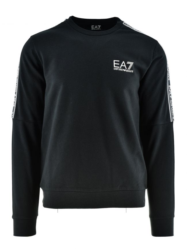 Black Taped Logo Sweatshirt