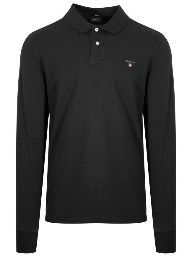 Black Classic Long Sleeve Polo Shirt