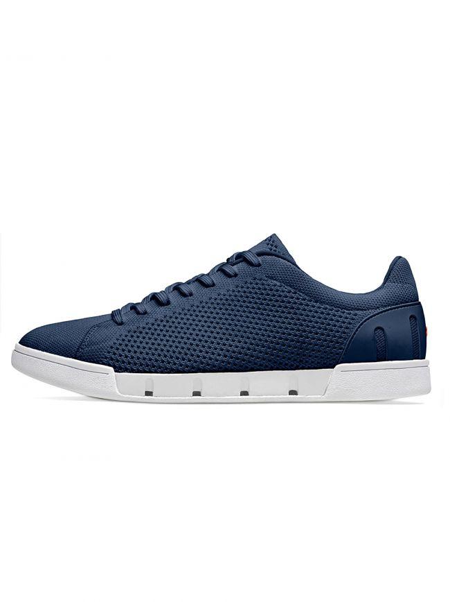 Navy & White Breeze Tennis Knit Sneaker
