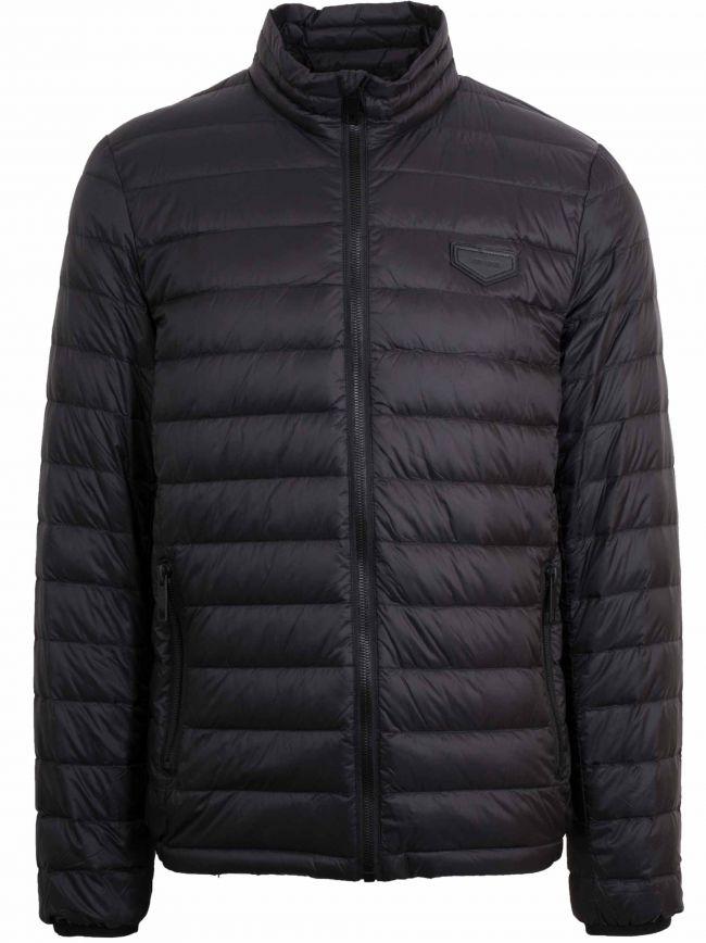 Black Lightweight Bubble Jacket