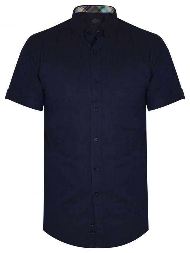 Shark Fit Navy Short Sleeve Shirt