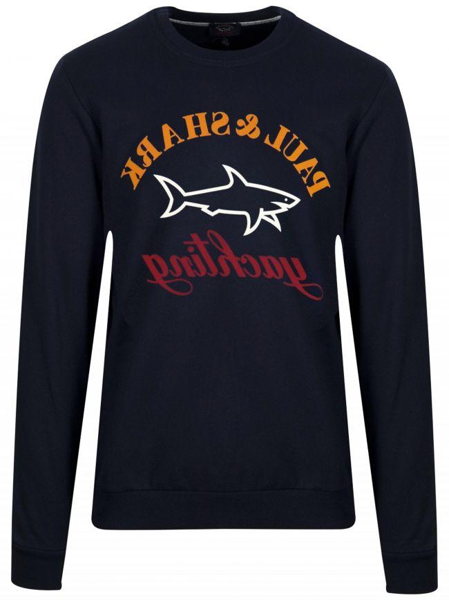 Navy Reverse Logo Sweatshirt