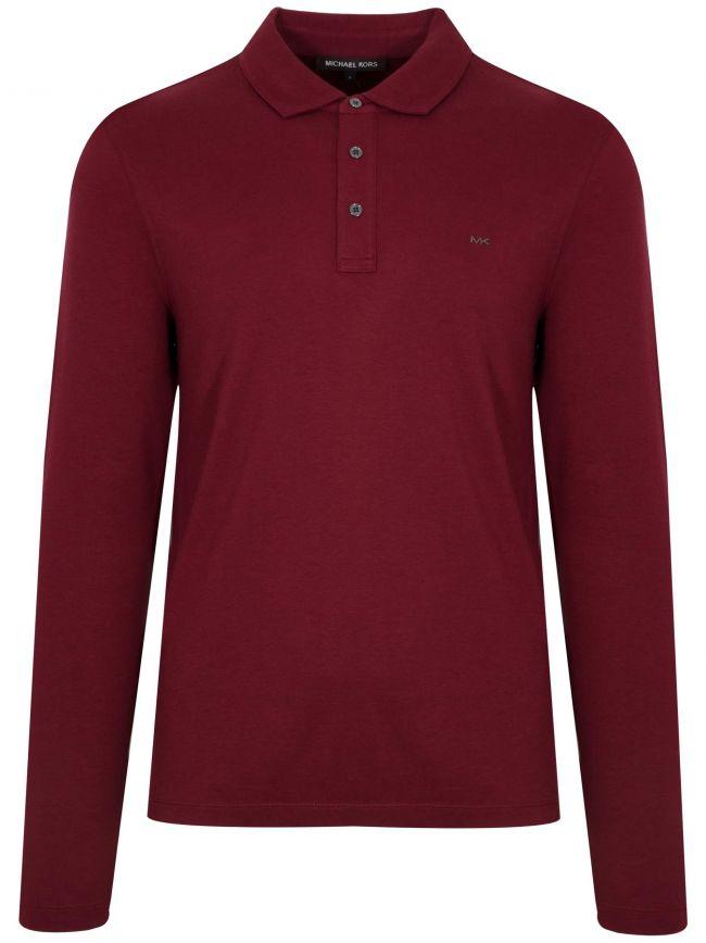 Merlot Red Long-Sleeve Polo Shirt