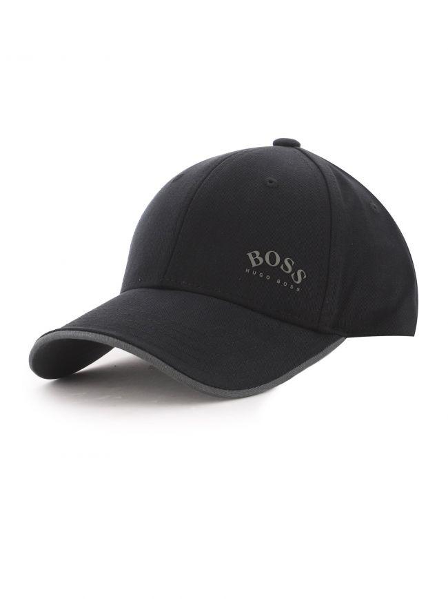 Black Cotton Twill Grey Contrast Accent Cap-X Cap