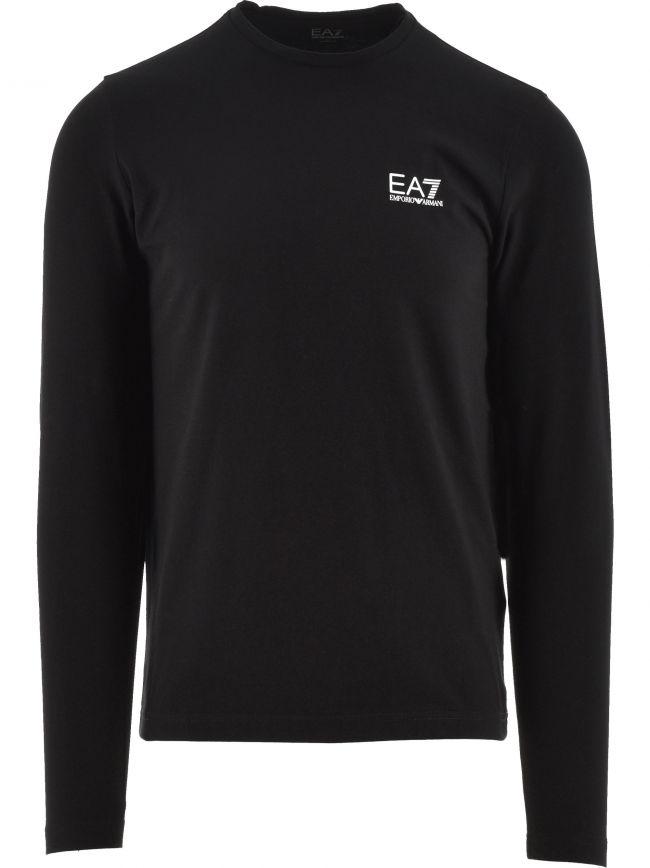 Black Long Sleeve Logo T Shirt