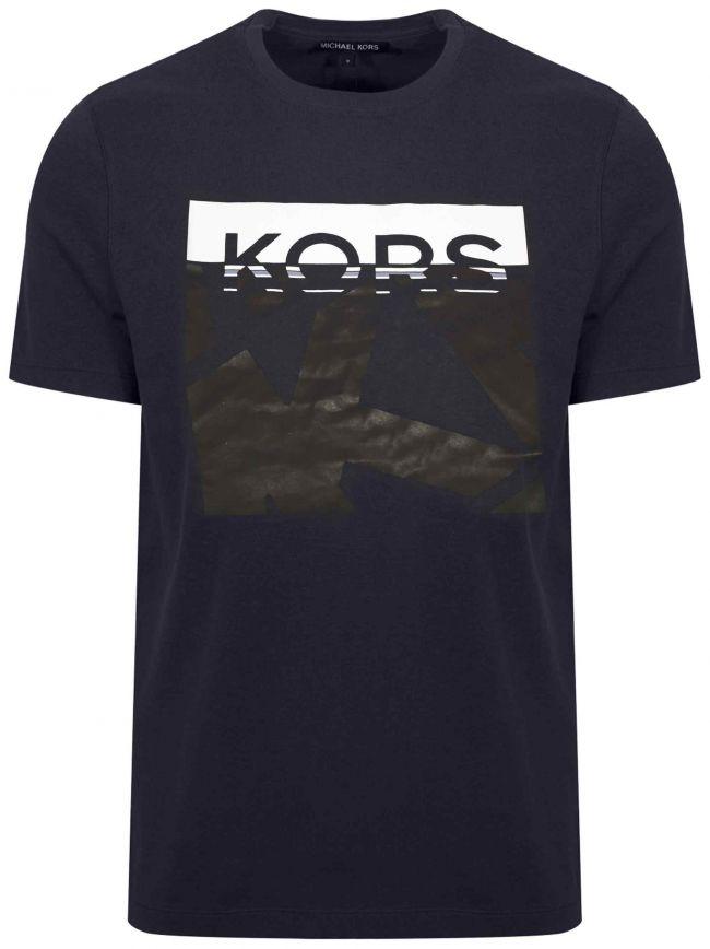 Navy Printed Logo T-Shirt
