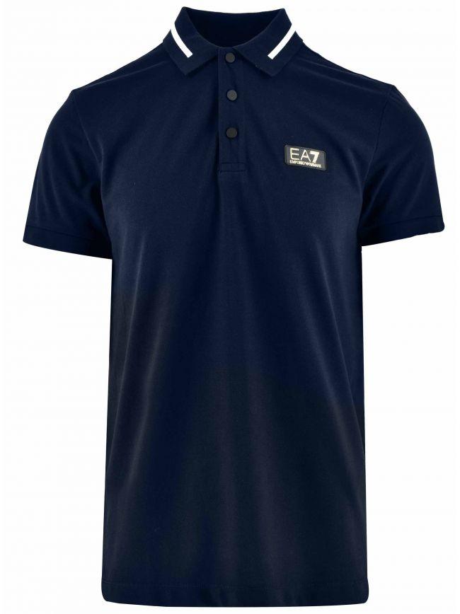 Navy & Gold Short Sleeve Polo Shirt