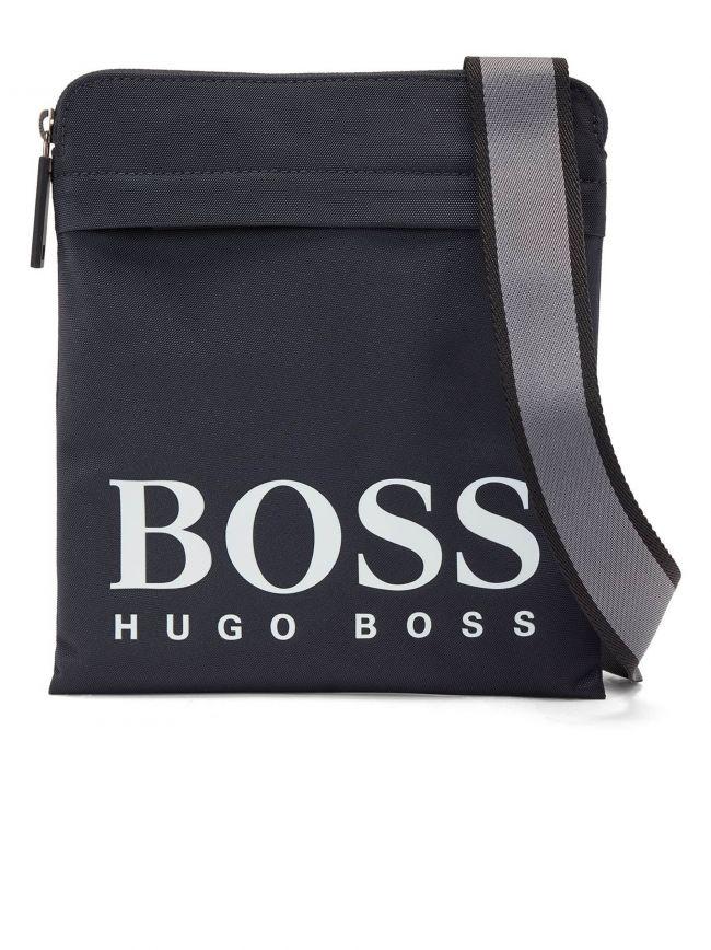 Navy Magnif Logo Crossbody Bag