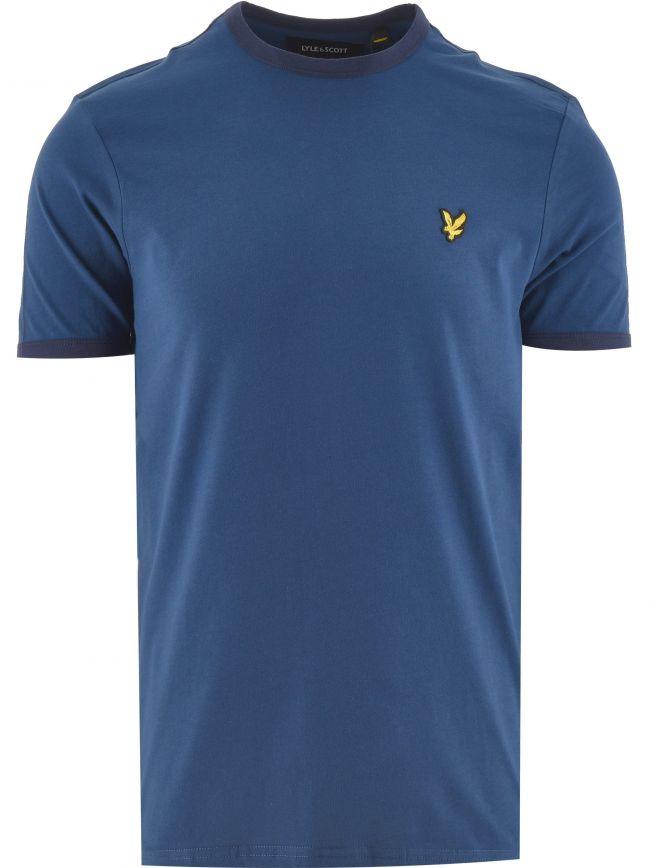 Indigo & Navy Ringer T Shirt