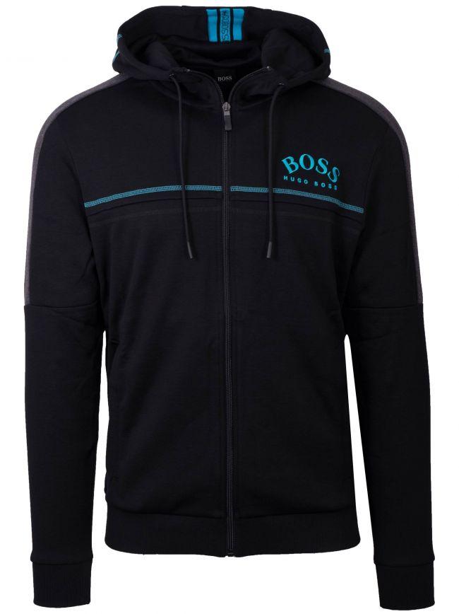 Saggy Black Zipped Sweatshirt