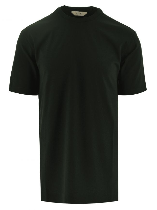 Dark Green Plain Cotton T Shirt