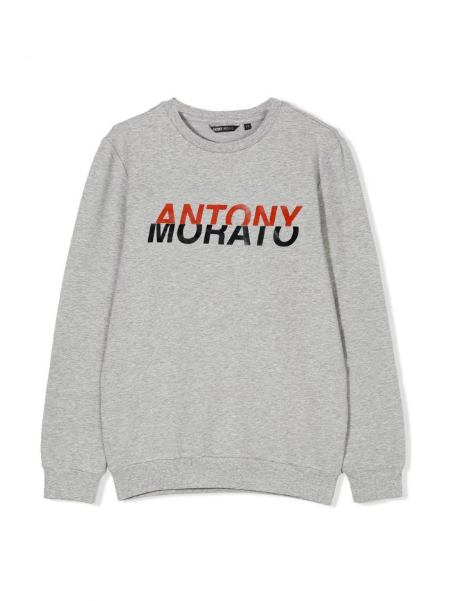 Grey Printed Logo Sweatshirt