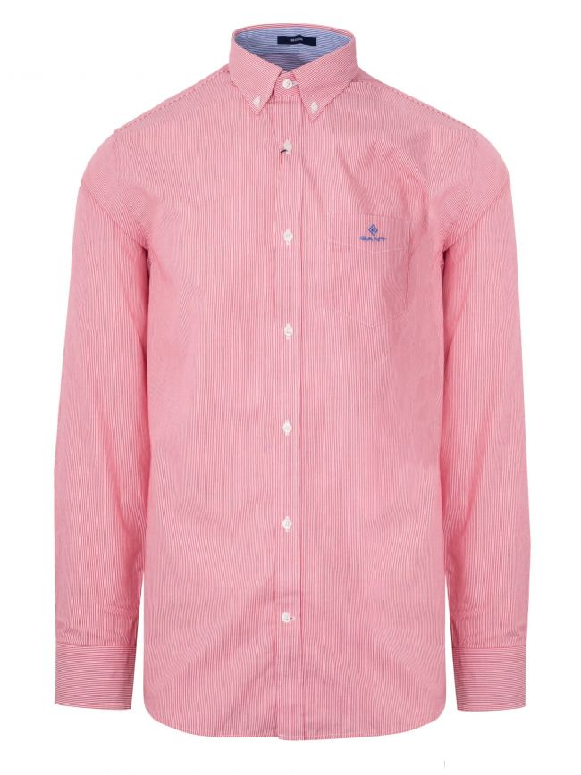 Red Broadcloth Striped Shirt