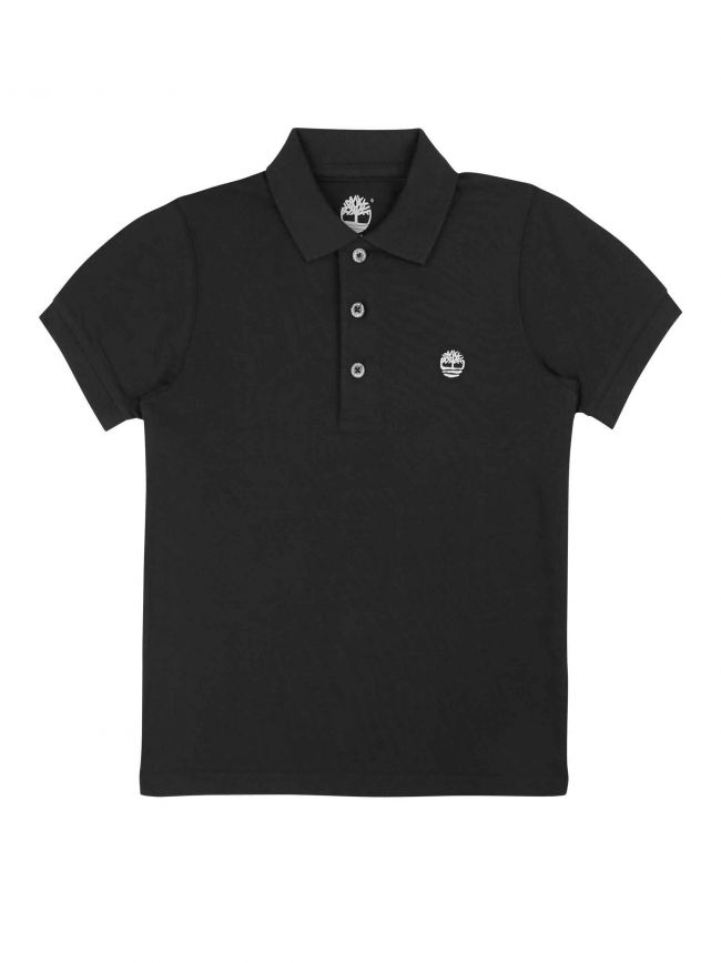 Black Short-Sleeved Polo Shirt