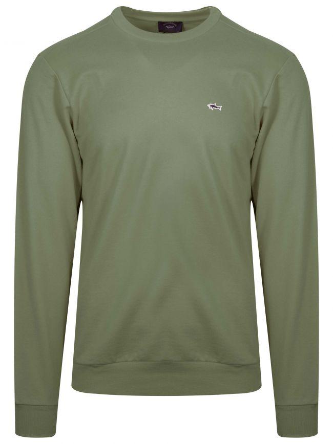 Khaki Shark Logo Sweatshirt