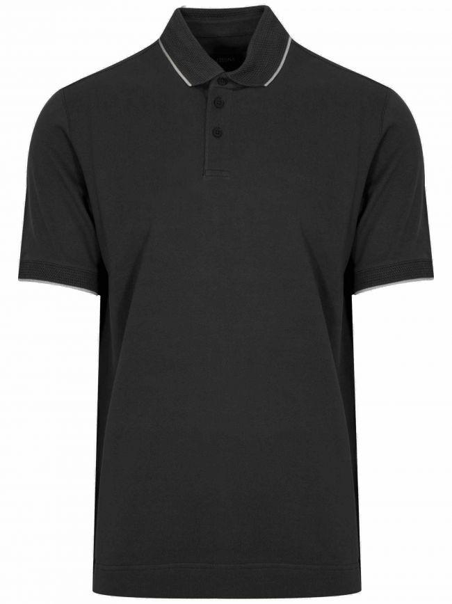 Black Short Sleeved Polo Shirt