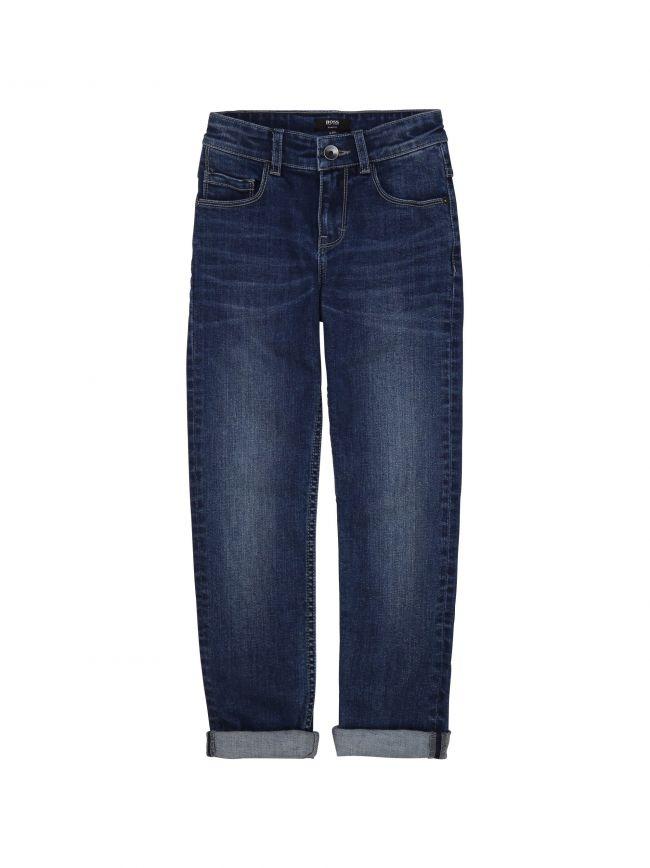 BOSS Kids Mid Wash Slim Fit Denim Jeans