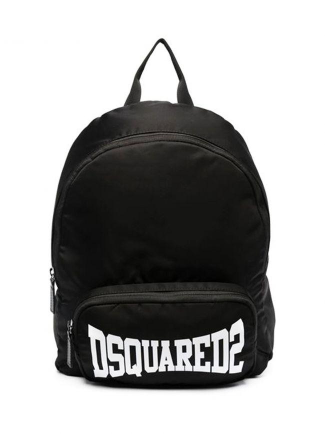 DSQUARED2 Kids Black Logo Bag