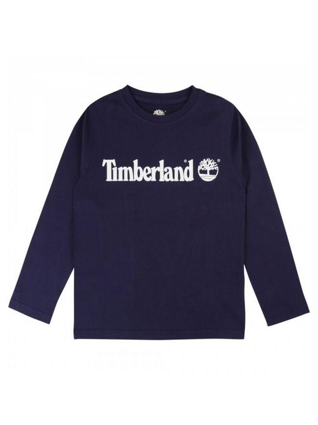 Timberland Kids Navy Long Sleeve T Shirt