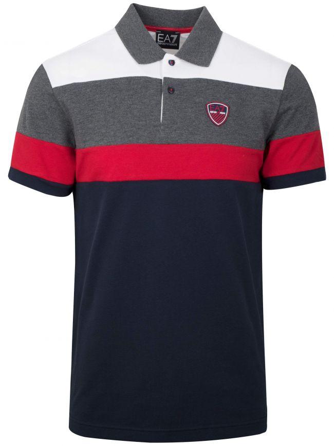 Red Block Colour Polo Shirt
