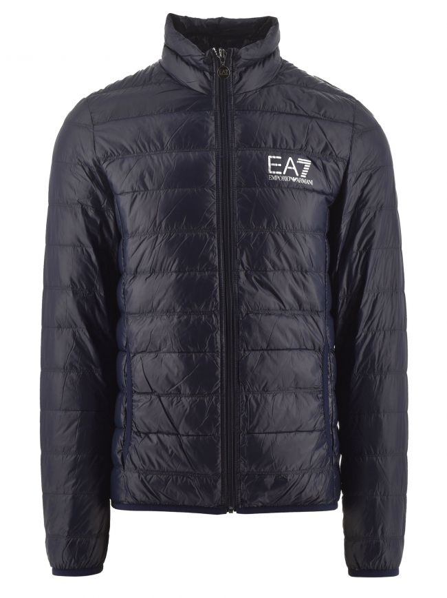 Navy Funnel Neck Down Jacket