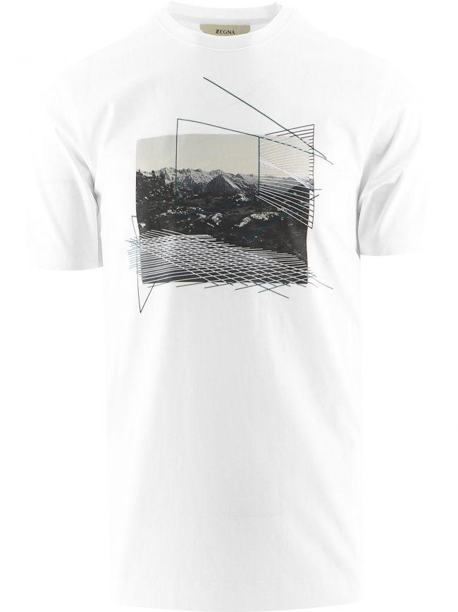 White Mountain Print T-Shirt