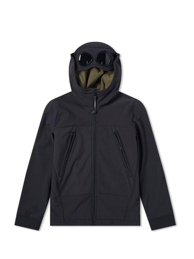 Navy Goggle Hood Soft Shell Jacket
