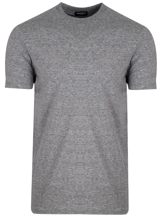 Grey DSQ2 Logo Crew Neck T-Shirt