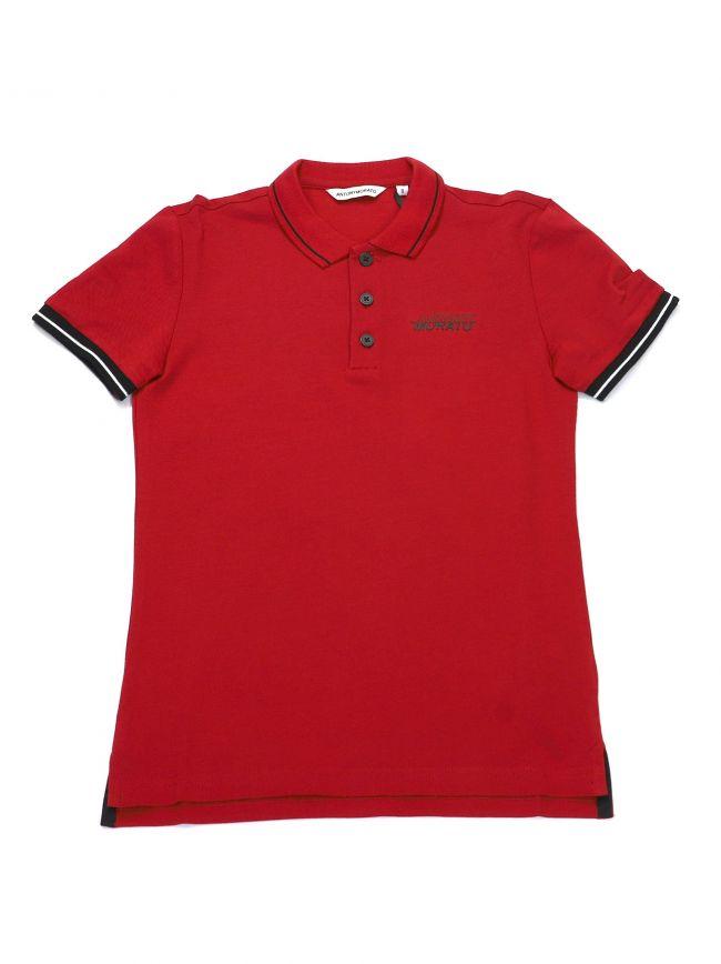 Antony Morato Kids Red Short Sleeve Polo Shirt