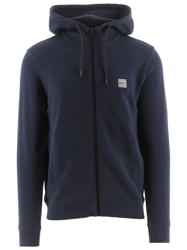 Navy Relaxed Fit Logo Patch Zetalk 1 Hoodie