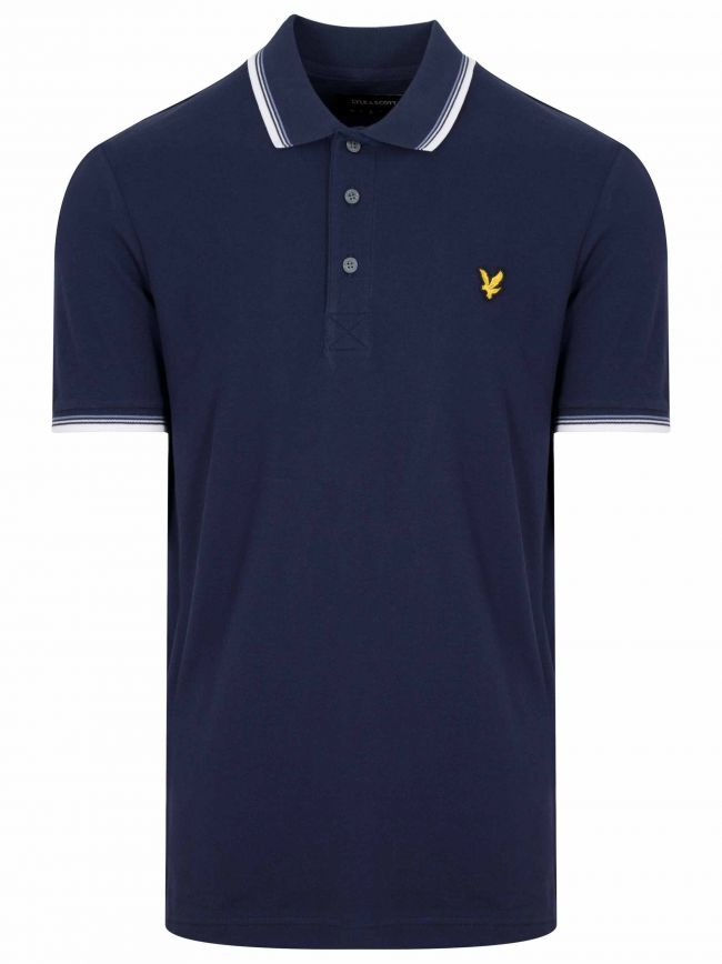 Navy Piped Polo Shirt