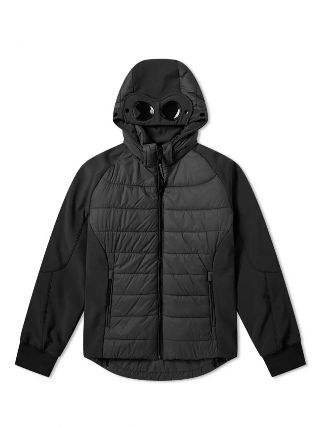 Black Quilted Goggle Soft Shell Jacket
