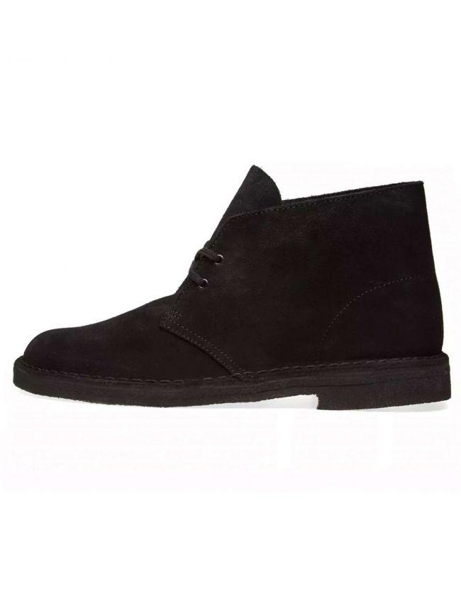 Black Suede Desert Boot