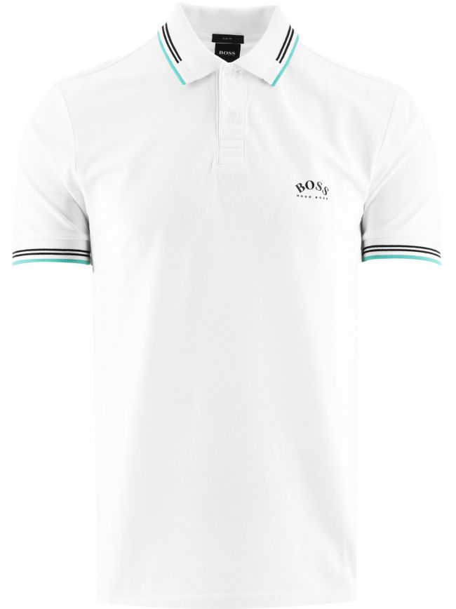 White Paul Curved Polo Shirt